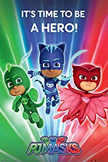 Pyramid International PJ® Masks (Be a Hero) Maxi Póster, 61 x 91