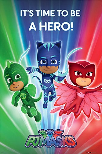 PJ Masks - TV Show Poster (Characters - Its Time To Be A Hero)