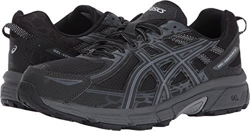 ASICS Mens Gel-Venture 6 Running Shoe, Black/Phantom/Mid Grey, 12 4E US - Walker Men Widths Available Shoes