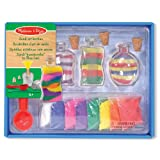 Melissa & Doug Sand Art Bottles Craft Kit: 3 Bottles, 6 Bags of Colored Sand, Design Tool