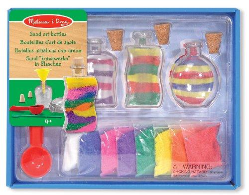 Melissa & Doug Sand Art Bottles Craft Kit: 3 Bottles, 6 Bags of Coloured Sand, Design Tool Castle Sand Art Bottle