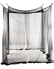 Mosquito Net Hanging Bed Canopy - Extra Large Easy Installation for Home & Travel Size Bed Net Black