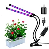 LED Plant Grow Lights,Dual Head 36 LEDs growing Lamp Bulb 360 Degree Adjustable Gooseneck for Indoor Plants, Greenhouse, Gardening, Office