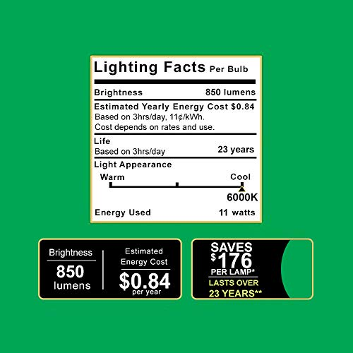 Sunco Lighting 10 Pack PAR30 LED Bulb, 11W=75W, Dimmable, 6000K Daylight Deluxe850 LM, E26 base, Flood Light, Indoor/Outdoor - UL & Energy Star