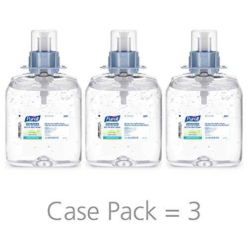 Refill 12 Fmx - PURELL FMX-12 Advanced Green Certified Hand Sanitizer Gel, Fragrance Free, 1200 mL Sanitizer Refills for PURELL FMX-12 Push-Style Dispenser (Case of 3) - 5091-03