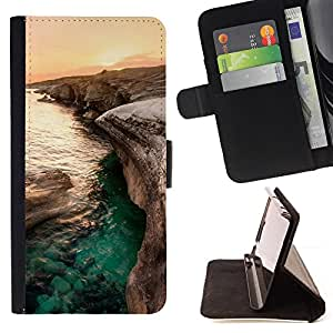 DEVIL CASE - FOR HTC Desire 820 - Sunset Beautiful Nature 84 - Style PU Leather Case Wallet Flip Stand Flap Closure Cover