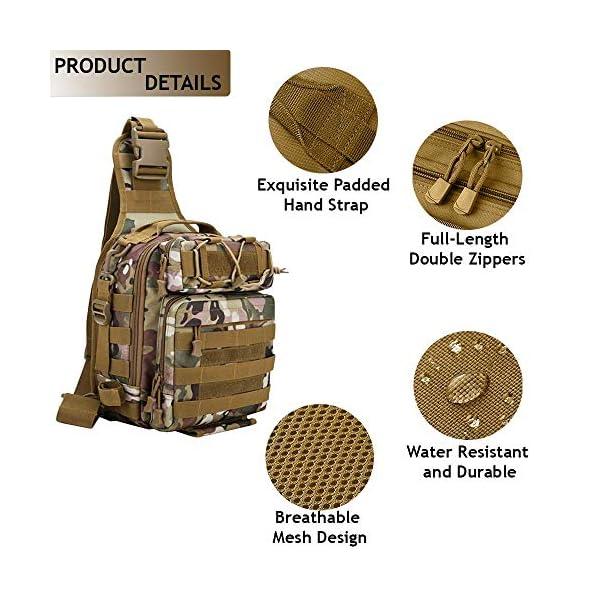 LUXHMOX Fishing Gear-Tackle-Bag Waterproof Storage Lightweight Sling Backpack