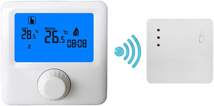 Pantalla azul inteligente programación semanal caldera inalámbrica de pared termostato inalámbrico inteligente 130 * 90 * 27 (mm) adopta CPU de alto rendimiento, calidad estable y confiable