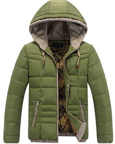 EKU Coats xxl Zipper Cotton padded Warm Mens green Hoodie Casual Jackets qwpxqf1r