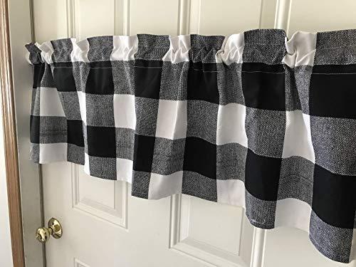 Black and White Buffalo Checks Farmhouse Curtain Valance