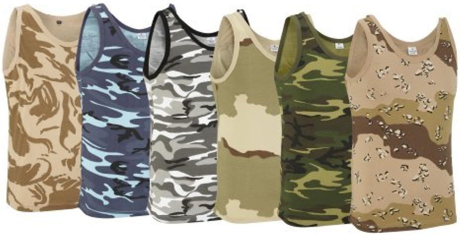 Army and Outdoors Camiseta de Tirantes Estilo Militar de Camuflaje ...