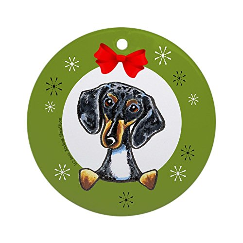 CafePress - Dapple Dachshund Christmas Ornament (Round) - Round Holiday Christmas Ornament -