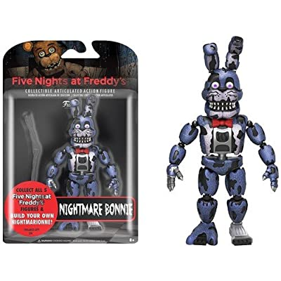"Funko 5"" Articulated Five Nights at Freddy's - Nightmare Bonnie Action Figure: Funko Articulated Action Figure:: Toys & Games"