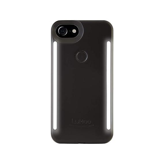 sale retailer 326d9 d2b49 LuMee Duo Phone Case, Black Matte | Front & Back LED Lighting, Variable  Dimmer | Shock Absorption, Bumper Case, Selfie Phone Case | iPhone 8 /  iPhone ...