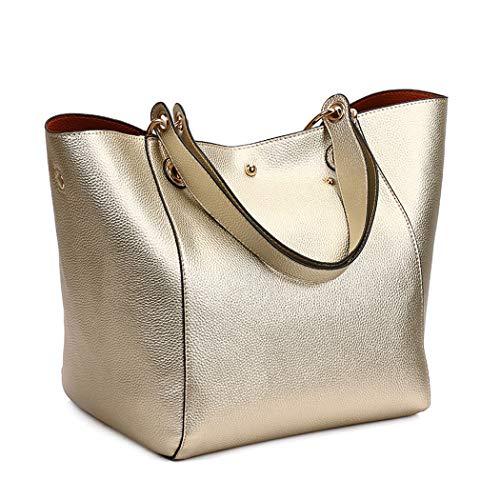 clutches Oro mano DEERWORD bolsos Carteras bandolera Mujer de de Bolsos Shoppers y y hombro xqAx7Op