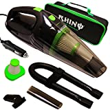 RHINO USA Car Vacuum Cleaner High Power [2018 Model] Handheld Portable Vacuume with 2 HEPA Filters, Pet Hair Extraction Brush Attachments, Heavy Duty Carrying Case and Vac L1fetime Waranty!