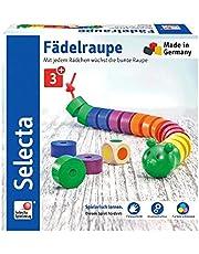 Sonderangebot: Selecta 63005 Fädelraupe, Würfel- und Fädelspiel Mehrfarbig und mehr
