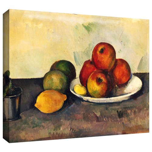 [Art Wall 'Still Life with Apples' Gallery-Wrapped Canvas Artwork by Paul Cezanne, 18 by 24-Inch] (24w Life)