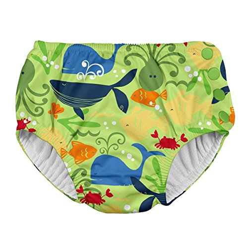 i play. Snap Reusable Absorbent Swimsuit Diaper,Green Sealife,4T by i play.
