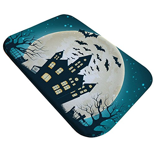 Stretoey Halloween Door Mats, Castle Moon Mat Home Decor,15.7 x 23.6 inches (Halloween Door Cover Ideas)