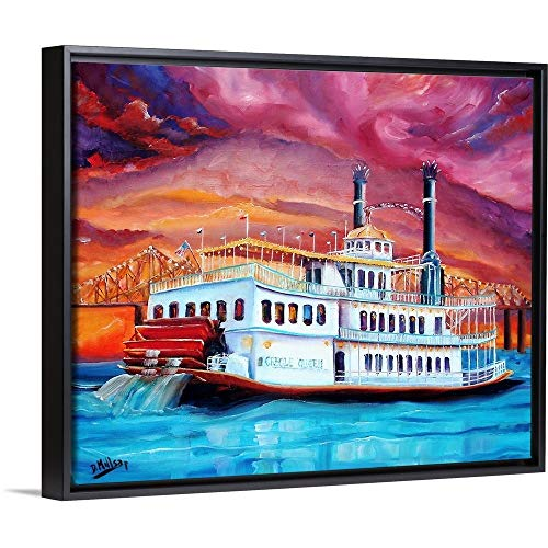 New Orleans' Creole Queen Black Floating Frame Canvas Art, 22