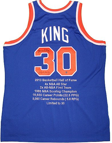 Bernard-King-Signed-New-York-Knicks-Blue-Mitchell-Ness-Jersey-w-HOF-2013-Inscription-and-Embroidered-Stats-Certified-Authentic-Autograph