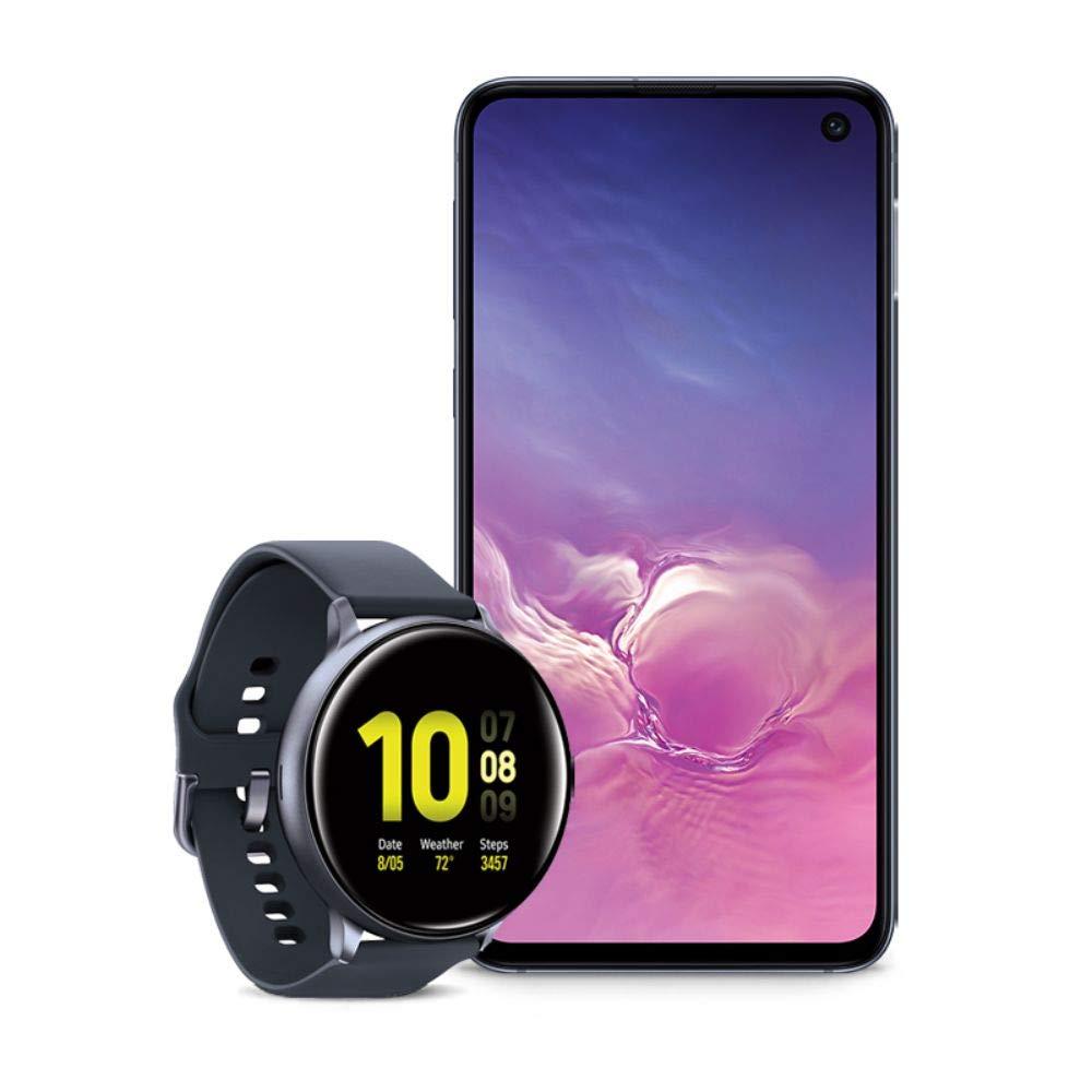 Samsung Galaxy S10e Factory Unlocked Phone with 128GB (U.S. Warranty), Prism Black w/Samsung Galaxy Watch Active2 (44mm), Aqua Black - US Version with Warranty