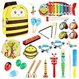 YISSVIC Musical Instruments Set 27 Pcs Percussion Toy for Boys and Girls with Carry Bag