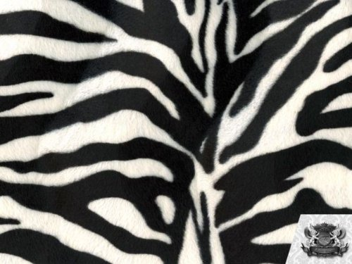 - Velboa Faux / Fake Fur Zebra BLACK SNOW WHITE Fabric By the Yard