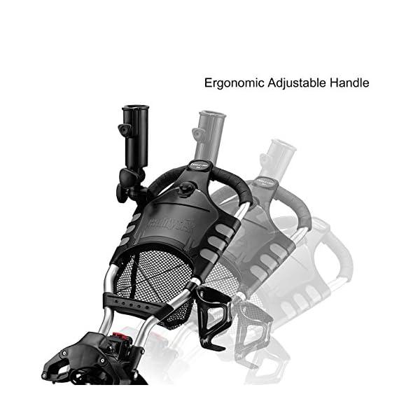 CaddyTek-One-Click-Folding-Golf-trolley-4-Wheel-Golf-PushPull-Cart-Version-3-with-storage-bag-