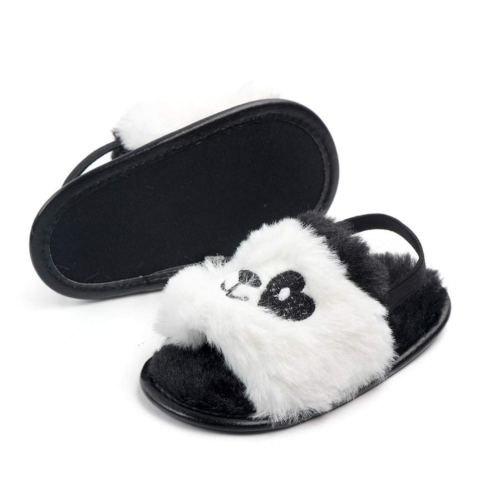 Leoie Baby Infant Boys Girls Cute Animal Shape Soft Sole Plush Sandals