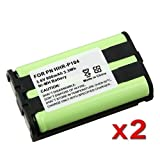 2x 900mAh NiMh Cordless Battery For Panasonic HHR-P104