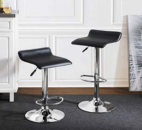 2L Lifestyle Pierson Air Lift Adjustable Bar Stools Set of 2, Small,...