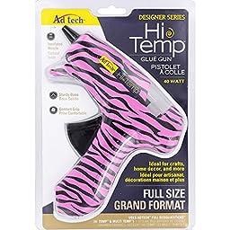 Ad-Tech Glue Gun, Full, Pink Zebra