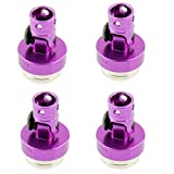 4 Pcs Alloy Magnetic Stealth Invisible Body Post Mount Upgrade Parts for 1/10 HSP RC Car Purple