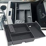 JOJOMARK Toyota Tundra Accessories Center Console Organizer for Sequoia 2008-19 Tundra 2007-2019 Insert ABS Armrest Box Secondary Storage