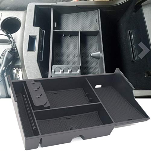 JOJOMARK Toyota Tundra Accessories Center Console Organizer for Sequoia 2008-19 / Tundra 2007-2019 Insert ABS Armrest Box Secondary Storage -