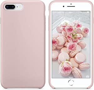 SURPHY Silicone Case Compatible with iPhone 8 Plus Case iPhone 7 Plus Case, Soft Liquid Silicone Rubber Slim Phone Case Cover with Microfiber Lining for iPhone 7 Plus iPhone 8 Plus 5.5