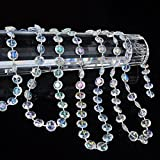 KUPOO 99 ft Clear Crystal Like Beads by The roll