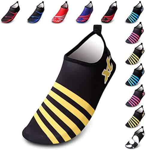 4b2bbfd7cec9 XMiniLife Water Shoes Quick-Dry Barefoot Aqua Socks for Beach Swim Surf  Swimming Yoga Exercise