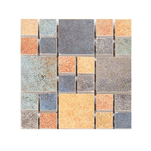 - Gleamfut 10Pcs Waterproof Tile Sticker Self Adhesive Wall Sticker Creative Lattice Square Floor Sticker Home Kitchen