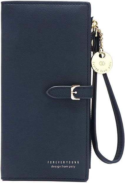 Women Lady Leather Wallet Long Zip Purse Card Phone Holder Case Clutch Handbag