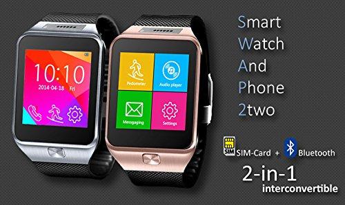 Indigi-SWAP2-GSM-Bluetooth-Watch-Cell-Phone-Touch-Screen-MP3-Spy-Camera-Sim-Card-Slot-GSM-Unlocked-Silver