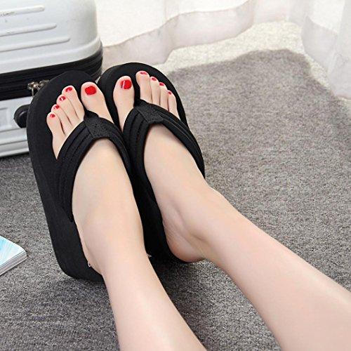 Tacco Alto Da Donna Con Plateau Tacco Alto Sandali Infradito Con Zeppa Moda Pantofola Estiva