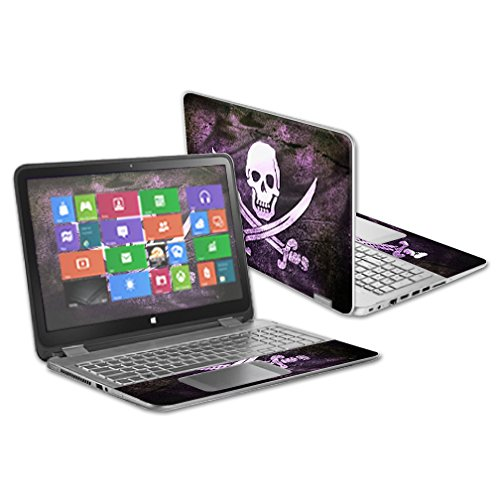"""MightySkins Protective Vinyl Skin Decal for HP Pavilion X360 13.3"""" Touch Laptop cover wrap sticker skins Pirate"""