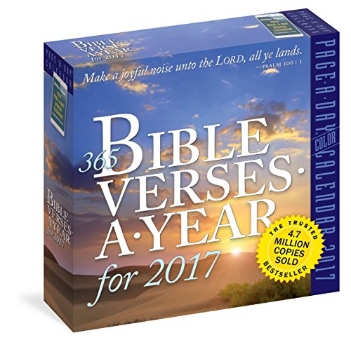 365 Bible Verses-A-Year Page-A-Day Calendar 2017