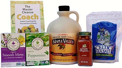 Maple Valley 10 Day Organic Master Cleanse Lemonade Detox/ Kit with Book The Master Cleanse Coach by Maple Valley