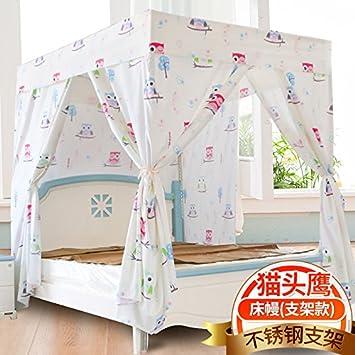 Mayihang Moskitonetz Haushalt Boden Vorhang Schlafzimmer 1,5 Meter Voll  Geschlossenen Bett Erwachsener Mantel,