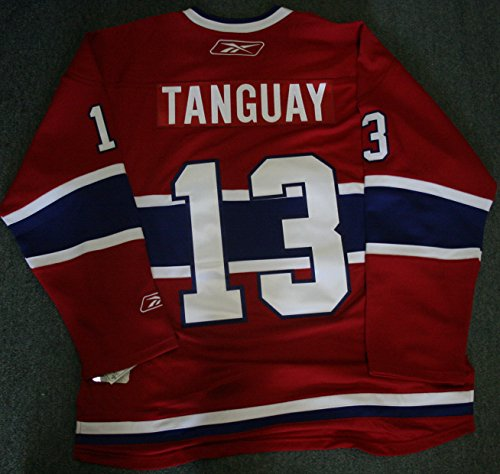 (Alex Tanguay Unsigned Replica Jersey Montreal Canadiens)