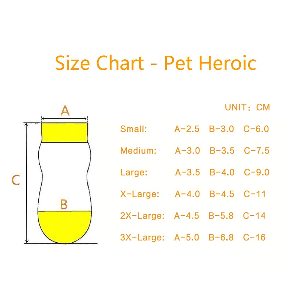 Fit Extra Small to Extra Large Dogs Cats Traction Control for Indoor Wear Pet Heroic 8 Sizes Anti-Slip Dog Socks Cat Socks Dog Cat Paw Protector With Rubber Reinforcement